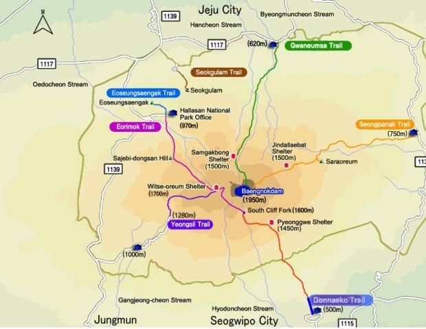 hallasan map